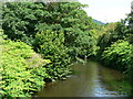 ST0380 : River Ely from bridge on the A4222 at Pontyclun. by Mick Lobb