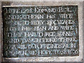 TG1328 : The church of SS Peter & Paul - C17 brass monument by Evelyn Simak