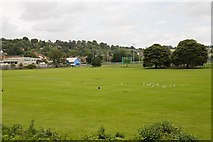 SU4828 : Bar End Sports Ground, Winchester by Peter Facey