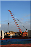 TA0623 : Discharging Timber at Barrow Haven Wharf by David Wright