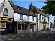 TQ7369 : Shops and Derelict Pub, North Street, Strood by Danny P Robinson
