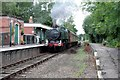 TG0307 : Thuxton Station with a GWR tank loco arriving . by roger geach