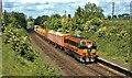 J3284 : Weed-spraying train at Mossley by Albert Bridge