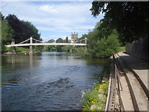 SO5139 : Victoria Bridge and Hereford Cathedral by Trevor Rickard