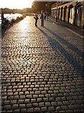 TQ1774 : Sunset and Stone Setts by Ian Paterson