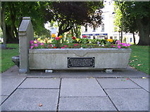 SP3378 : Animal drinking trough and fountain, Greyfriars Green by E Gammie