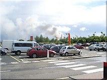 NS5170 : Smoke clouds behind Great Western Retail Park by Stephen Sweeney