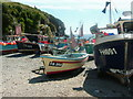 SW7214 : Boats on Cadgwith Beach by Sharon Palmer
