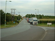 TL8663 : Lorry parking by Keith Evans