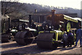 SK3281 : Line of steam rollers by Chris Allen