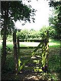 TG0524 : Padlocked gate beside footpath by Evelyn Simak