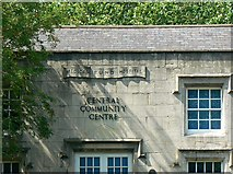 SU1484 : Central Community Centre facade detail, Swindon by Brian Robert Marshall
