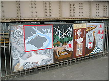 SU6400 : Panel 1 of the 1995 Mural at Portsmouth and Southsea Station by Basher Eyre