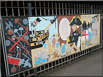 SU6400 : Panel 5 of the 1995 Mural at Portsmouth and Southsea Station by Basher Eyre
