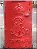 TQ2673 : Edward VII postbox, Earlsfield Road / Cargill Road, SW18 - royal cipher by Mike Quinn