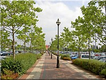 SJ7796 : The Trafford Centre car park east by Steve  Fareham