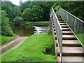 NY6819 : Footbridge and weir , River Eden, Appleby by David Brown