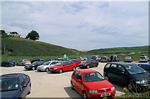 SW6619 : Poldhu Cove Car park by Pierre Terre