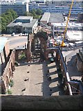 SP3378 : Coventry cathedral ruins from the tower by E Gammie