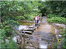 SD7186 : Stepping  stones on the River Dee by Raymond Knapman