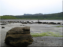 NM4788 : Sandstone boulders, Laig Bay by Jonathan Wilkins