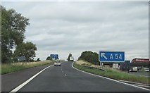 SJ7466 : M6 - junction 18 sliproad by Whatlep