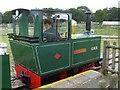 SP9634 : Woburn Safari Park - Miniature train (side view) by Kenneth  Allen