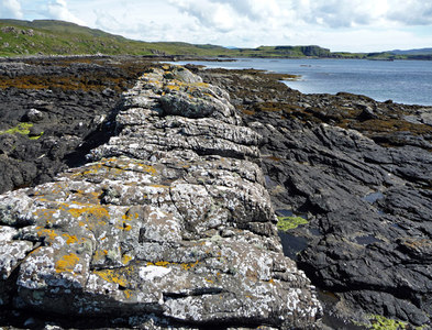 NG2251 : Dyke on the east coast of Loch Dunvegan by John Allan