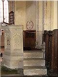 TG3912 : St Margaret's church - pulpit by Evelyn Simak
