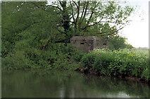 SU2598 : Pillbox opposite Eaton Hastings by Pierre Terre