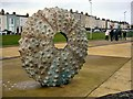 O2528 : Sea Urchin sculpture at Dun Laoghaire by Kay Atherton
