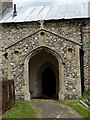 TF9624 : St Helen's church - south porch by Evelyn Simak
