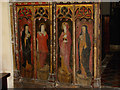 TF9624 : St Helen's church - rood screen detail by Evelyn Simak