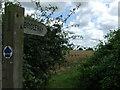 TL7855 : Bridleway sign by Keith Evans