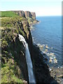 NG5065 : Ellishadder: Mealt Falls and Kilt Rock by Chris Downer