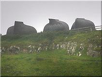 NU1341 : Boat sheds near Lindisfarne Castle by Chris Gunns
