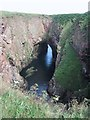 NK1038 : Rock Arch at the Bullers of Buchan by Sarah Charlesworth