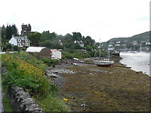 NR8668 : Tarbert: shoreline and castle by Chris Downer