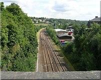 SE1115 : View from Scar Lane Bridge MVL3-75 - Milnsbridge by Betty Longbottom