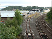 NM8529 : Oban: last stretch of railway by Chris Downer