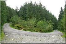 SH7140 : Hairpin Bend near Llan Ffestiniog by Jeff Buck
