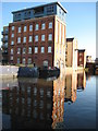 SO8554 : Converted factory, Worcester by Philip Halling