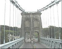 SH5571 : Crossing Pont y Borth into Gwynedd by Eric Jones