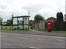SZ0995 : Muscliff: postbox № BH9 398, Shillingstone Drive by Chris Downer