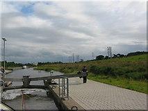 NS8579 : Union Canal, Falkirk Wheel Top Lock 2 by Renata Edge