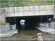NS8579 : Looking back to Roughcastle Tunnel at the Falkirk Wheel by Renata Edge