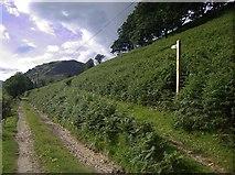 SN7648 : Start of a bridleway by Rudi Winter