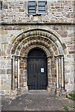 SD6178 : St Mary's Church, Kirkby Lonsdale, Cumbria - West doorway by John Salmon