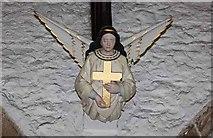 SD5192 : Holy Trinity Church, Kendal, Cumbria - Roof angel by John Salmon
