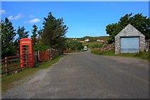 NB9812 : Telephone Box, Altandhu by Mick Garratt